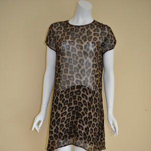 Ba&sh Leopard Print See through Dress
